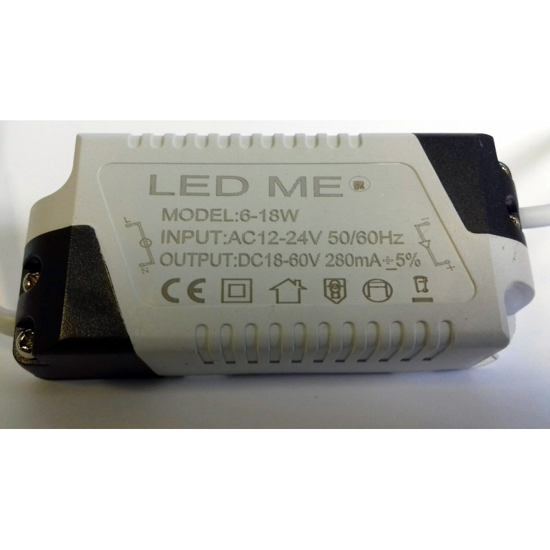 CONSTANT CURRENT LED DRIVER 280mA 6-18W DC 12-24V