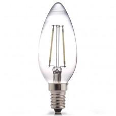 2W LED Filament bulb E14 Candle Retro Style Classic Glass Warm White 2700K (non-dimmable)