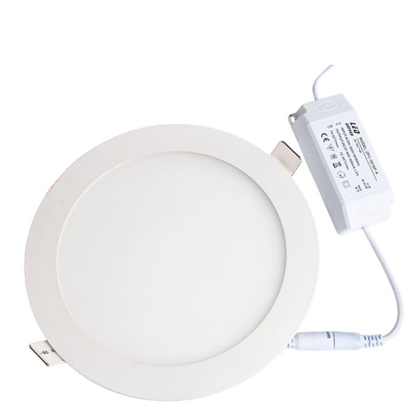 15W Round Recessed Ultra-slim Ceiling Light in Cool White